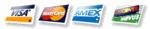 visa - master card - amex - discover